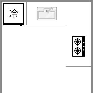 L型キッチン